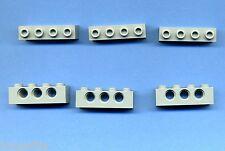 Lego--3701--Lochstein -- 1 x 4 -- 3 Loch -- Grau/OldGray -- 6 Stück --