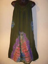 Dress Fit XL 1X 2X 3X Plus Green Purple Sundress Jumper Tie Dye V Neck NWT G381
