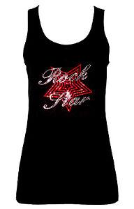 ROCK STAR MUSIC CRYSTAL RHINESTONE  VESTS TANK TOPS .. all sizes 8-16