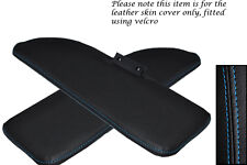 BLUE STITCHING FITS FIAT 500 CLASSIC 2X SUN VISORS LEATHER COVERS ONLY