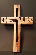 Kreuz, Holzkreuz, Wandkreuz a. Olivenholz, geschnitzt in Bethlehem, 20 cm
