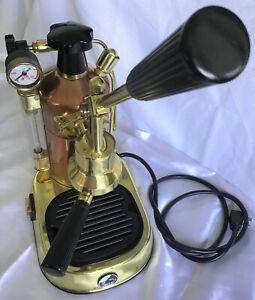 La Pavoni Professional Pre-millennium Copper/Brass PB16  espresso machine RARE