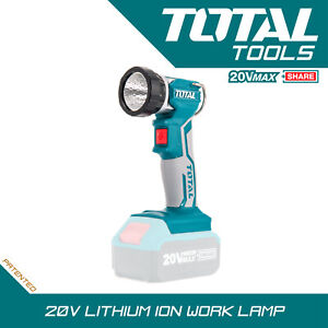 Total Tools Portable 20v Lithium-ion Cordless Work Lamp Body Only