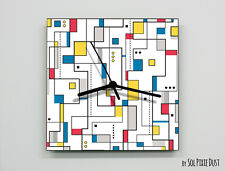 Piet Mondrian Abstract seamless pattern Wall Clock