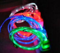 HOT LED Neon Light USB Data Sync Cable Cord Charger 4 Colors  For iPhone 5 5S Mo