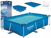 8in1 BestWay SWIMMING POOL 259x170 + Cover Rectangular Garden Above Ground Pool