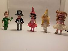 Madame Alexander Mcdonalds dolls lot of 5 Mad Hatter Munchkins Lolipop Flower