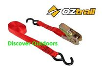 NEW OZtrail Tie Down RATCHET Strap 2m long x 25cm wide - Trailer Camping Tools