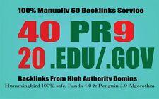 Manually do 40 PR9 + 20 EDU/GOV Safe SEO High Pr Backlinks 2017 Best Results