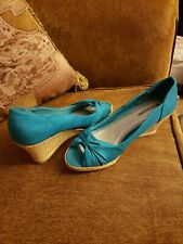 Naturalizer Brand~~Dark Teal Wedges~~Size 8. Great Condition~~