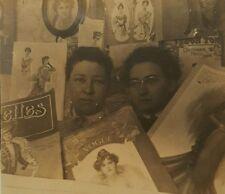 ANTIQUE 1901 VOGUE MAGAZINE FASHIONISTAS BFFs EDWARDIAN GIBSON GIRLS FINE PHOTO