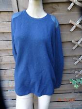 Tommy Hilfiger Pullover Jacke Lammwolle dunkelblau XL 42 NEU mit Etikett