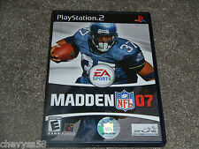 MADDEN NFL 2007 07 FOOTBALL EA SPORTS PLAYSTATION 2 VIDEO GAME DISC