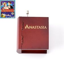 Artisanal ♫ Anastasia - Once Upon A December ♫  Wooden Book Hand Crank Music Box