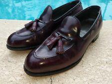 FootJoy Classics Men's Deep Burgundy Leather Tassel Loafer Shoes. Size 10.5D