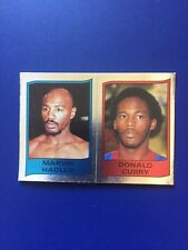 1986 Panini CARD Sticker Marvin Hagler Boxing Supersport #109A New !!!