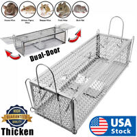 USA Dual-Door Mouse Trap Cage, Humane Live Mouse Cage Trap for Mice, Rats