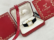 GENUINE CARTIER 18K GOLD  Ladies Cartier Swiss Vermeil Cartier 18K Gold with Box