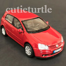 "4.5"" Welly VW Volkswagen Golf V GTi Fsi Diecast Toy Car 42361D Red"