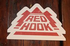"""10 RED HOOK BEER STICKERS ~6"""" X 4"""" OFFICIAL BREWERY BARWARE BREWERIANA MAN CAVE"""