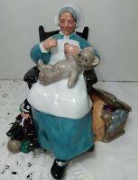 """Vintage ROYAL DOULTON1957 Porcelain Figurine """"NANNY"""" H.N.2221 made in ENGLAND."""