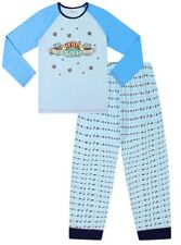 FRIENDS Central Perk Pyjamas for Girls Cafe TV Show Kids PJ Set Blue