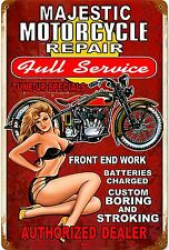 Man Cave Gift Men Vintage PinUp Girl Garage Bar Metal Sign Majestic Sexy Lady