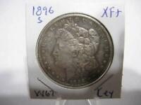 VERY RARE DATE 1896 s  MORGAN DOLLAR NICE  EXF+ ESTATE COIN  w67