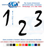 Numeri Adesivi auto/moto racing stickers numero adesivo Mistral