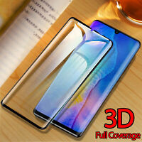 Full Coverage 3D Tempered Glass Screen Protector For Huawei P30 P20 Pro Mate 30