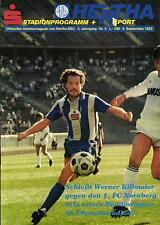 BL 82/83 Hertha BSC - 1. FC Nürnberg, 04.09.1982