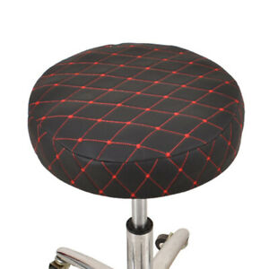 Bar Stool Cover Round Lift Chair Sleeve Faux Leather Thicken Seat Slipcover