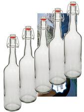 10 Leere Glasflaschen mit Bügelverschluss Bügelflasche 0,75 750 ml Flasche Bügel