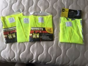 Yellow High Visibility Vest - Qty 4