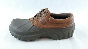 CROCS Unisex All Terrain Leather Hiking Brown Shoes Mens Size 8 Womens Size 10