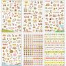 6 Sheets Cute Cartoon Girl  Scrapbook Diary Planner Decorative Paper Stickers