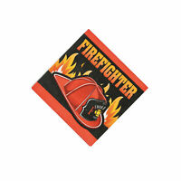 Firefighter Party Beverage Napkins - Party Supplies - 16 Pieces
