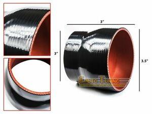 "3.5"" To 3"" Silicone Intake/Intercooler Pipe Reducer Coupler BLACK For Isuzu/Kia"
