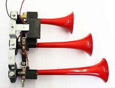 12V 24V Fanfare CHROM Druckluft Lufthorn Horn Hupe  Kompressor LKW PKW