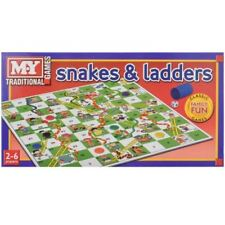 NEW SNAKES AND LADDERS TRADITIONAL CHILDRENS BOARD GAME KIDS TOY FAMILY FUN BOX