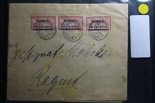 Memel 3x24 auf Brief als Mehrfachfrankatur E-Brief nach Ragnit, mit Knick #BA974