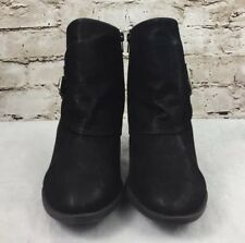 Womens Blowfish Ankle Boots Suede Look Size 11 Color Black