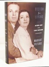 DESIGN FOR LIVING - ALFRED LUNT and LYNN FONTANNE by MARGOT PETERS HCDJ - SIGNED