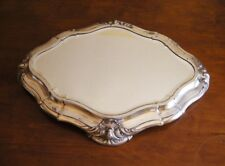 Art Nouveau Sterling Silver Large Mirrored Plateau