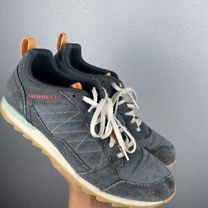 Merrell Alpine Sneakers Gray Suede Nylon Walking Hiking Shoes J16699 Mens 11