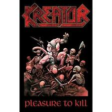 "Kreator bandiera/bandiera ""pleasure to kill"" POSTERFLAG"