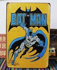 Batman comic Vintage Tin Sign Bar pub home Wall Decor Retro Metal Poster