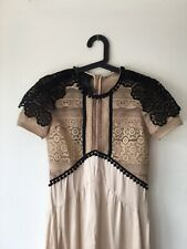 Burberry Prorsum Lace Detail Silk Dress Size 36