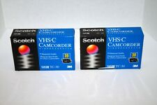 Brand New Scotch VHS-C Camcorder Videocassete TC-30 Tapes