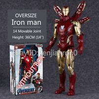 ZD TOYS 14'' Big Iron Man MK85 Marvel Avengers Legends Heroes Action Figure
